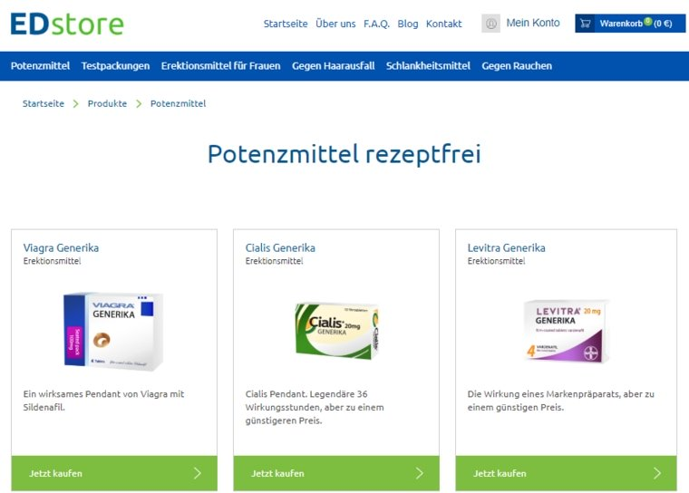 Unseriöse Online Anbieter für Potenzmittel